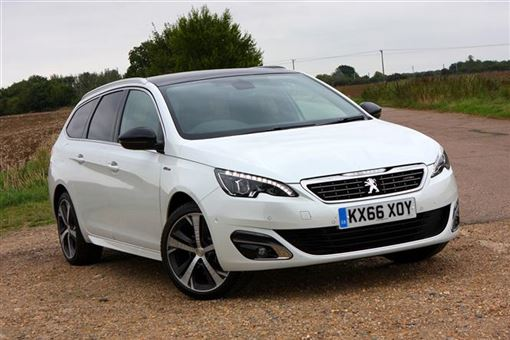 peugeot 308 sw 1 2 e thp 130bhp puretech gt line 5d road test parkers. Black Bedroom Furniture Sets. Home Design Ideas