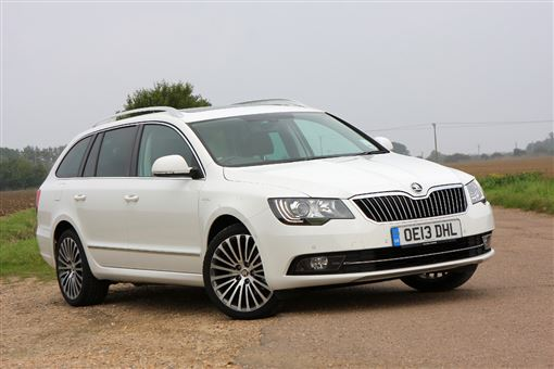 skoda superb estate 2 0 tdi cr 170bhp laurin klement 5d dsg road test parkers. Black Bedroom Furniture Sets. Home Design Ideas