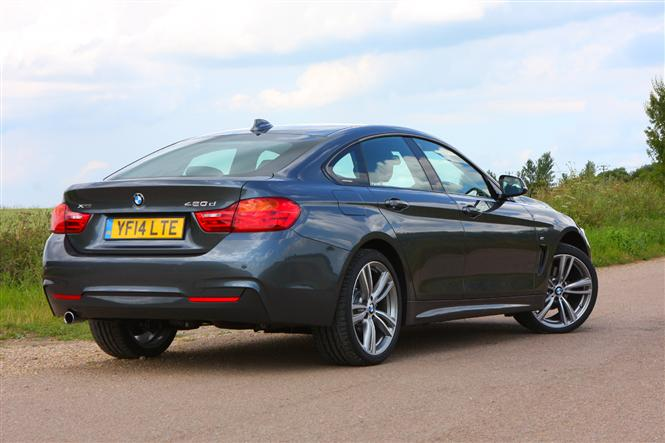 bmw 4 series gran coupe 420d xdrive m sport 5d auto road test parkers. Black Bedroom Furniture Sets. Home Design Ideas