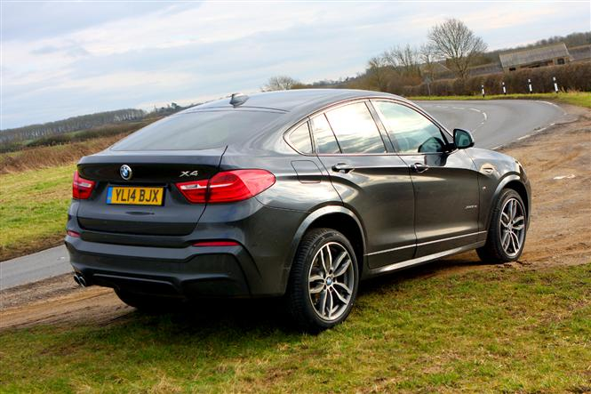 bmw x4 xdrive30d m sport 5d road test parkers. Black Bedroom Furniture Sets. Home Design Ideas