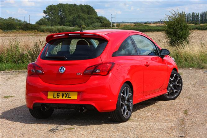 vauxhall corsa vxr 1 6t vxr performance pack 3d road test parkers. Black Bedroom Furniture Sets. Home Design Ideas