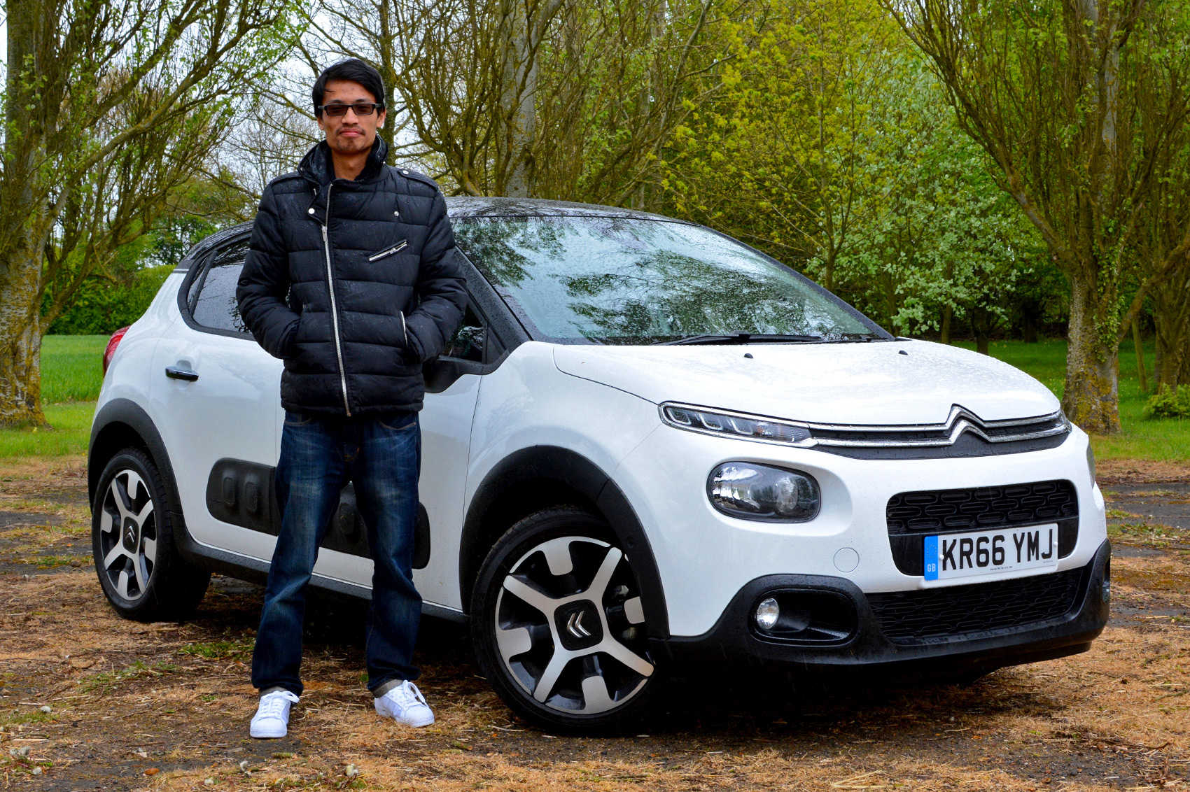 White 2017 Citroen C3 Hatchback front three-quarter with Lawrence Cheung