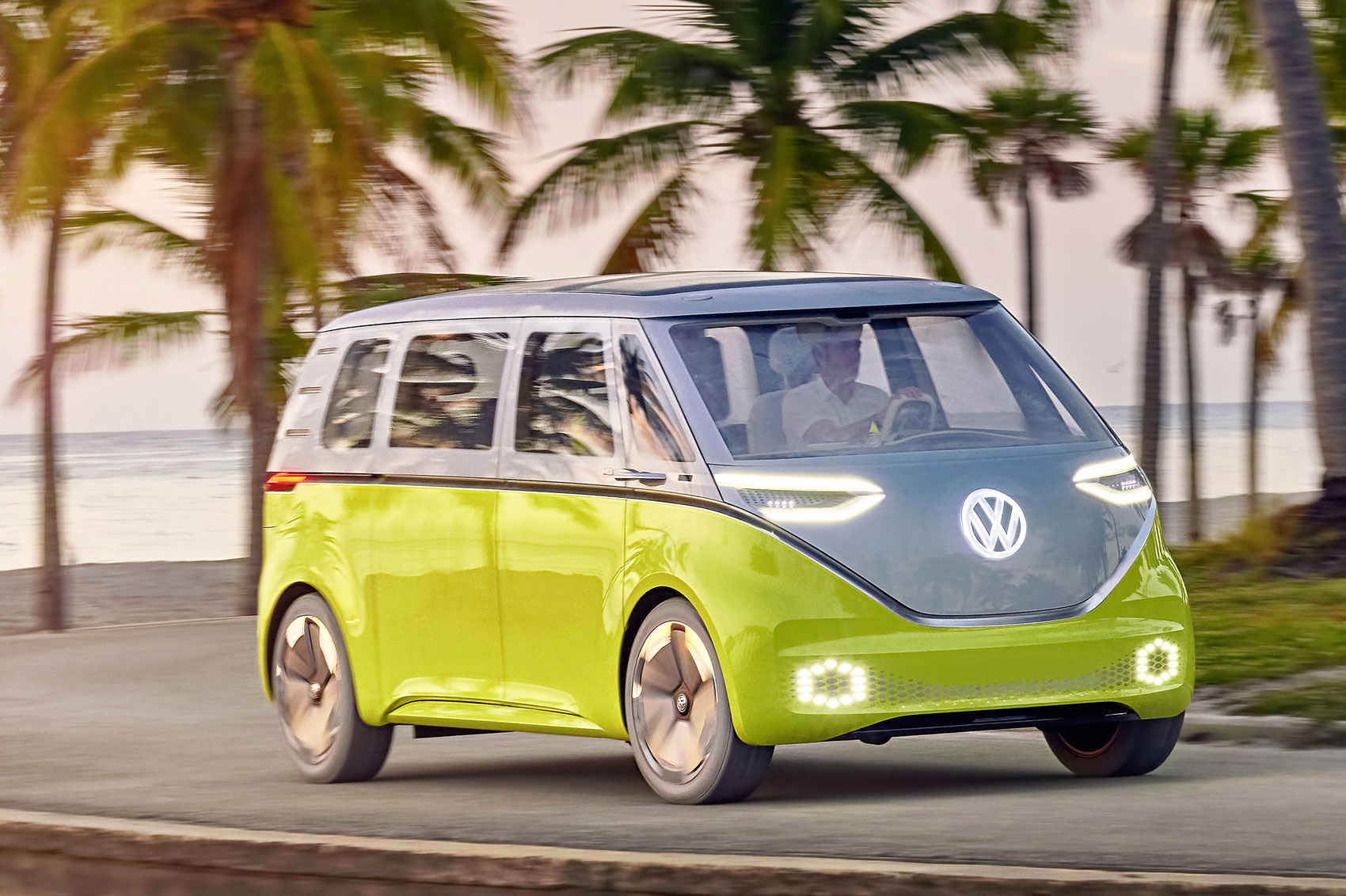 official all electric vw buzz cargo van confirmed for production parkers. Black Bedroom Furniture Sets. Home Design Ideas
